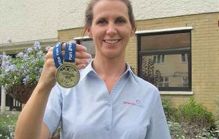Hospital worker completes charity run